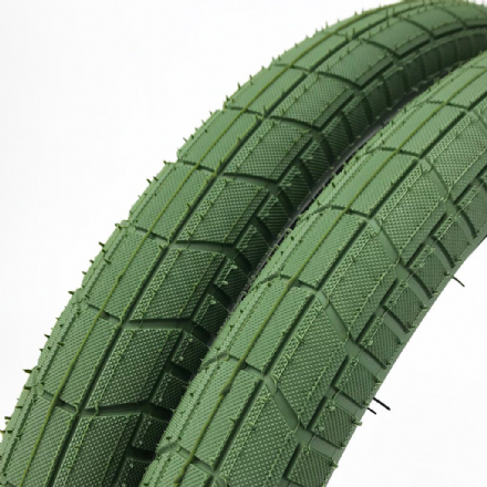 Cult Dehart Tread Tyre - Olive Green With Black Sidewall 2.40""